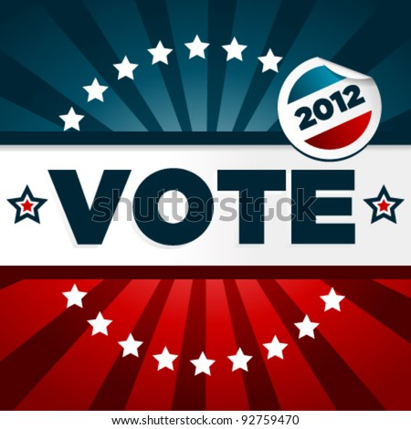 Patriotic Voting Poster - stock vector