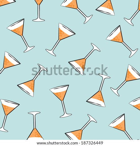 pattern background Drink glass vector - stock vector