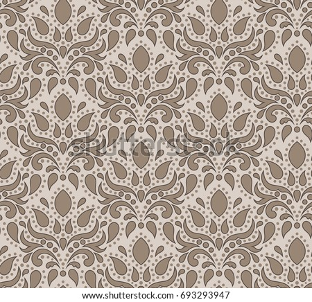 Pattern Beige In The Baroque Style Suitable For Curtains Wallpaper Fabric Tile