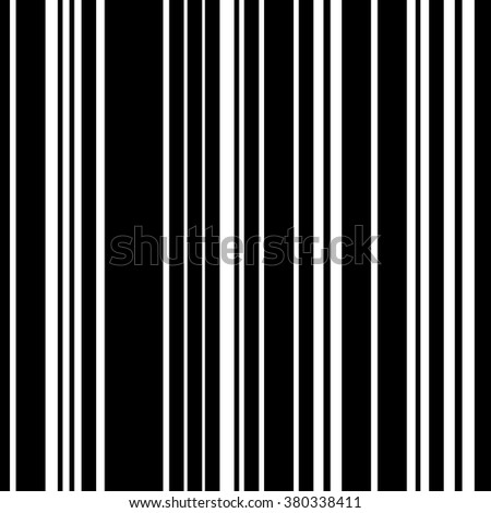 Pattern black and white vertical stripe seamless. Vector background.