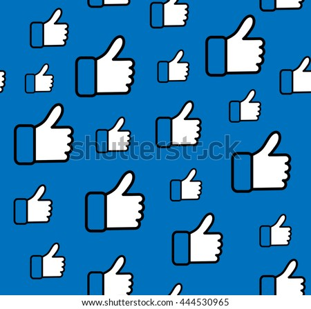 Pattern Blue Button Hand Like Icon Vector Background, JPG JPEG,EPS Logo design yes Download Face book Social media