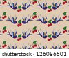 Pattern Cherries - stock vector