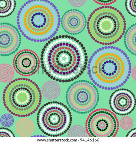 Pattern colorful circles - stock vector