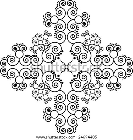 Pattern cross - stock vector