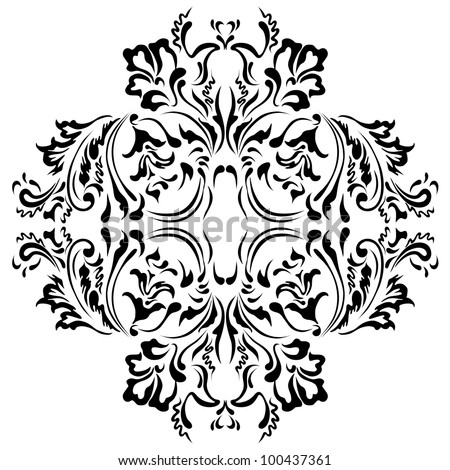 Pattern flowers and ornaments floral - stock vector