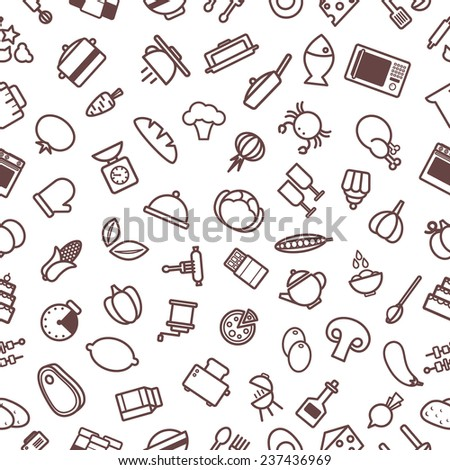 Pattern Food - stock vector