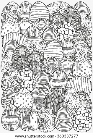 Pattern Coloring Book A 4 Size Easter Stock Vector ...