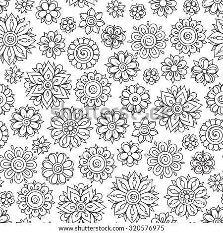 hand drawn flowers stock vectors vector clip art