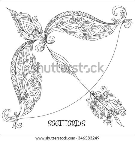 Sagittarius Glowing Zodiac Sign The Centaur Archer Greek