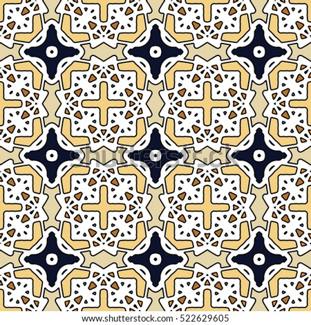 Pattern for print, web design, textile, identity, patchwork. Geometric texture. Vector endless ornaments with abstract shapes.