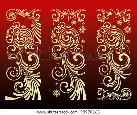 pattern for stamping - stock vector