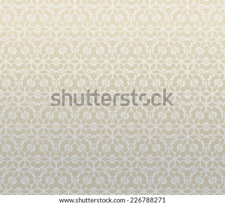 Pattern from decorative elements in a light brown tonality - stock vector