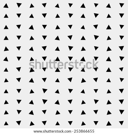 Pattern geometric, background triangle, retro vintage design vector minimalistic monochrome - stock vector