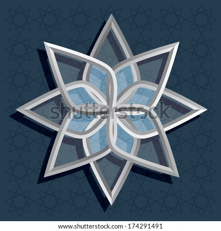 pattern in arabic style. Vector illustration - stock vector