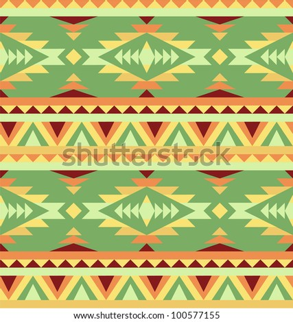 Pattern in native american style - stock vector
