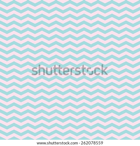 Pattern in sky blue and pink zigzag  - stock vector