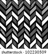Pattern in zigzag black-white - stock vector