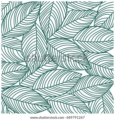 Pattern Leaves Two Tone Wallpaper And Background