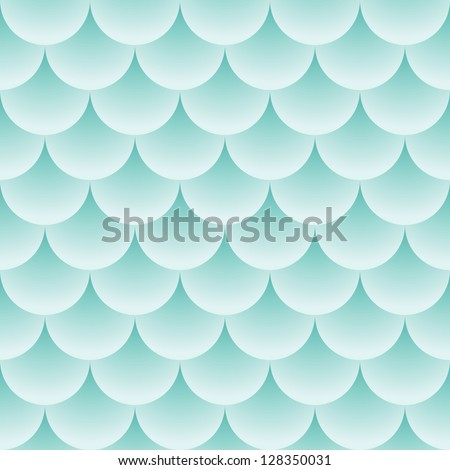 Pattern like fish scales - vector abstract seamless texture - stock vector