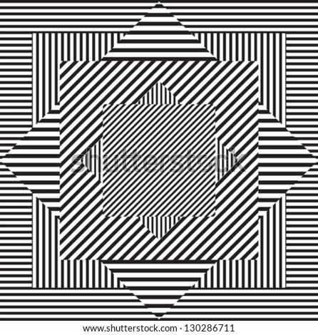 Pattern line black and white - stock vector