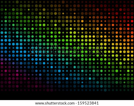 Pattern made from flashing points - stock vector