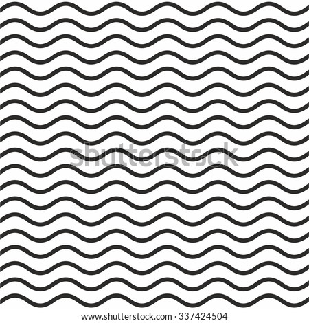pattern black wavy line white background stock vector 337424504