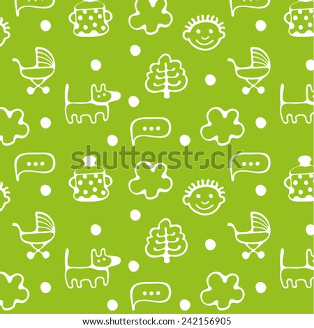 Pattern of child and childhood. - stock vector