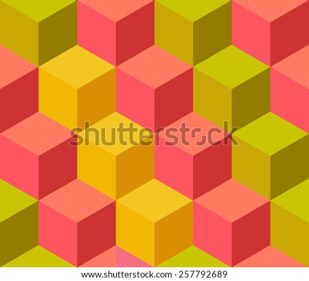 Pattern of colored cubes. Vector - stock vector