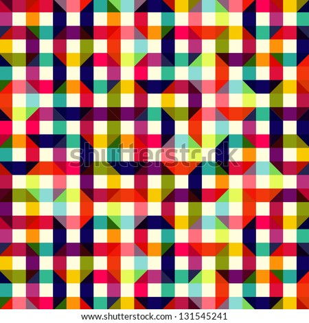 pattern of colored geometric elements - stock vector