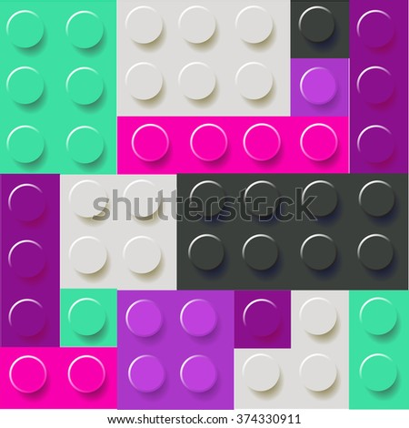 Pattern of colorful blocks vector - stock vector