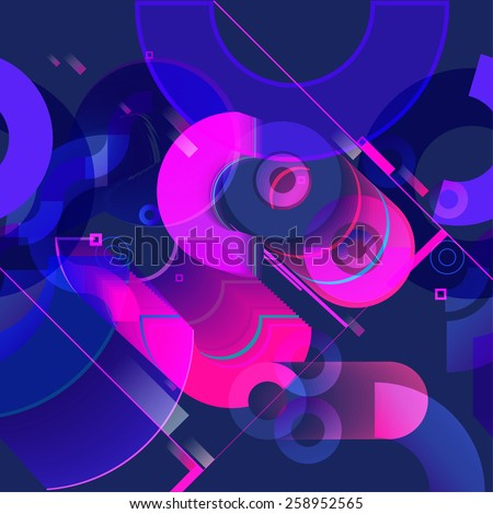 Pattern of colorful circle. background for banner, poster, website - stock vector