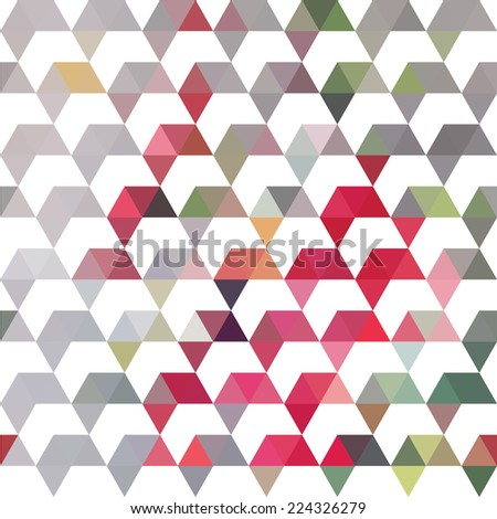Pattern of geometric shapes. Colorful mosaic backdrop. Geometric retro background - stock vector