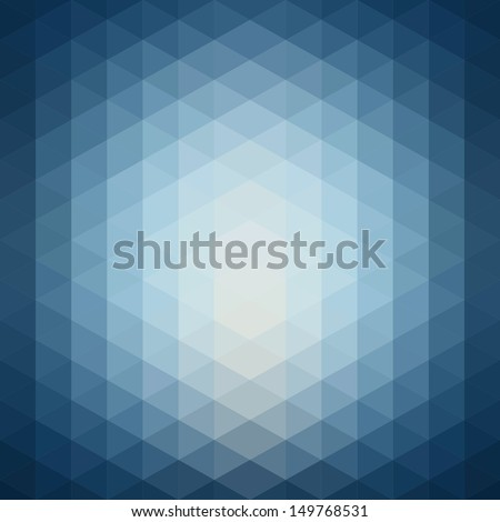 Pattern of geometric shapes. Flow of blue spectrum effect.  - stock vector