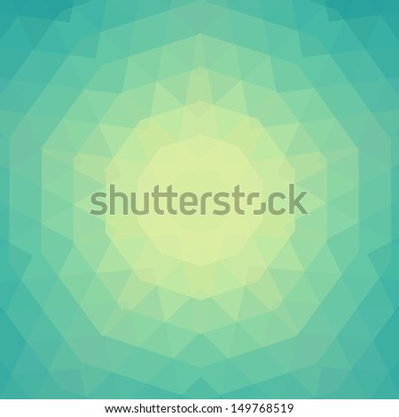 Pattern of geometric shapes. Flow of spectrum effect.  - stock vector