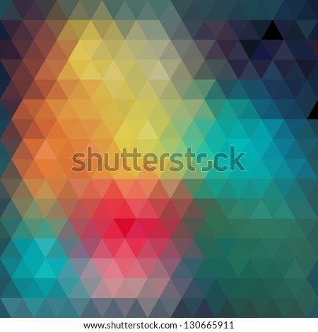 Pattern of geometric shapes.Texture with flow of spectrum effect. Geometric background. Copy that square to the side, the resulting image can be repeated, or tiled, without visible seams. - stock vector
