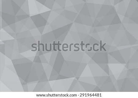 pattern of gray geometric shapes with light middle abstract background - stock vector