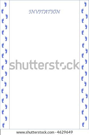pattern of invitation for boys - stock vector