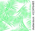 pattern of palm leaves. Leaves of palm tree. Seamless pattern. tropical palm leaves seamless pattern. Vector illustration. - stock vector