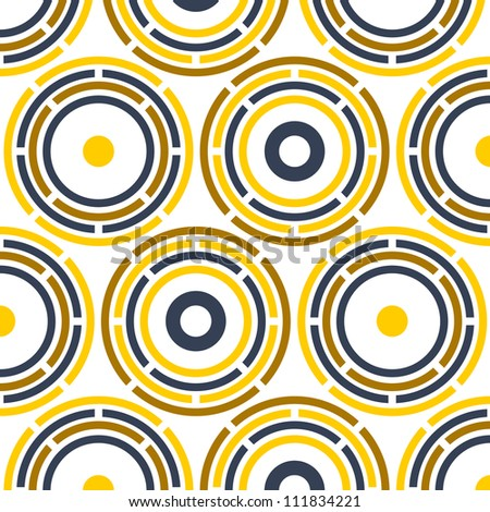 pattern of round geometric elements. easy to edit. EPS 10. - stock vector