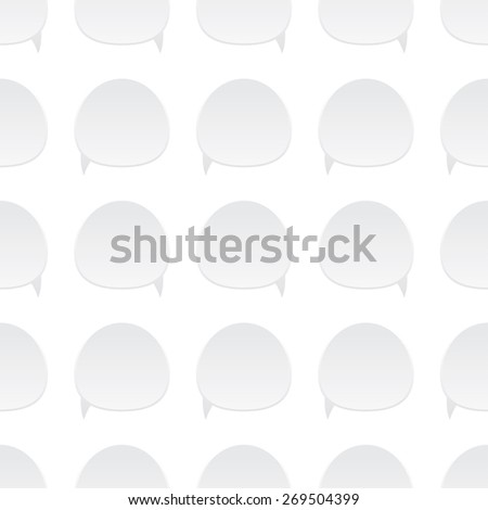 Pattern of text bubbles on the white background - stock vector
