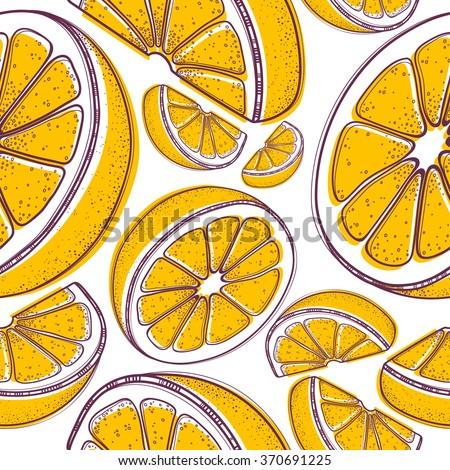 Pattern orange - stock vector