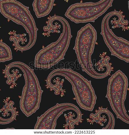 pattern paisley - stock vector