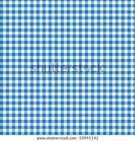 Pattern picnic blue - stock vector
