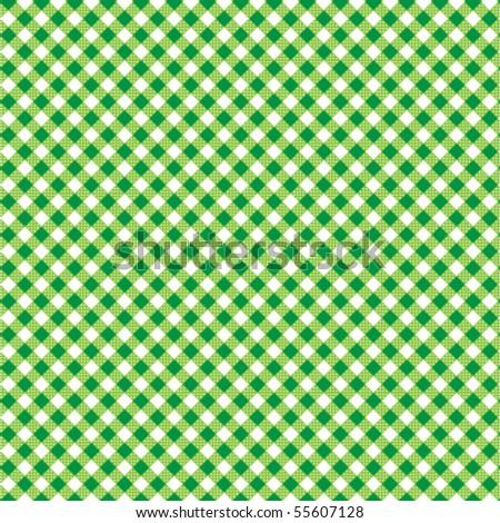 Pattern picnic green vector - stock vector
