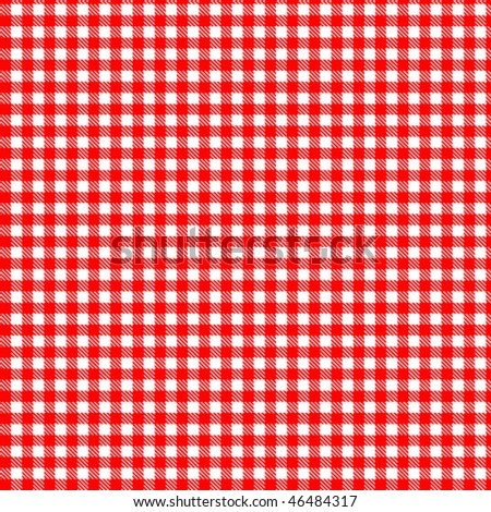 Pattern red picnic - stock vector