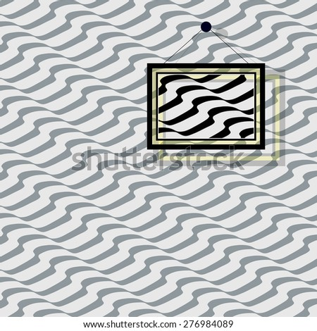 Pattern - Seamless pattern with diagonal wavy stripes. Repeating background with waves,  inspired by the portuguese pavement. Editable vector. - stock vector
