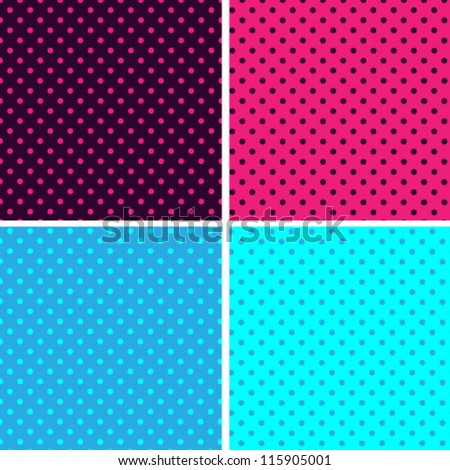 Pattern seamless polka dot background - stock vector