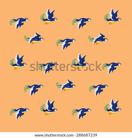 pattern. soaring bird. vector - stock vector