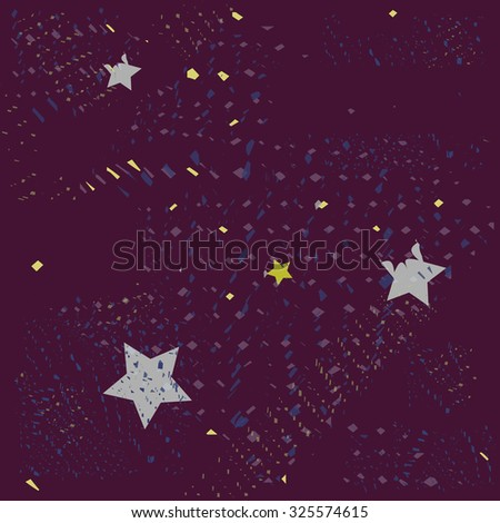 pattern stars and space