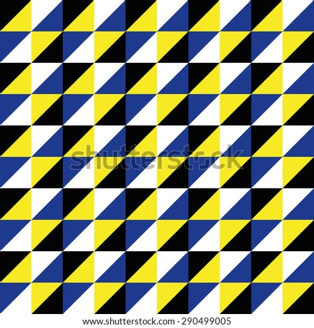 Pattern Vector Seamless Polygon Triangle black yellow blue for different purchase - stock vector